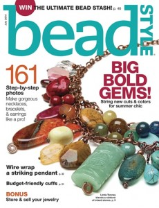 My winning design on the cover of Bead Style magazine!